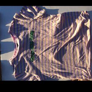 "Forever21 Striped ""local girl gang"" t-shirt"